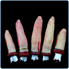 5pc/Lot Scary Broken Finger Blood Horror Halloween Decoration Severed Bloody Simulate Hand Novelty Dead Broken Hand Gadgets