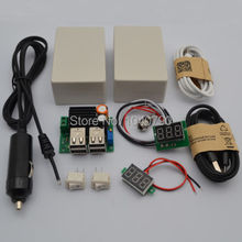 DIY DC9-40V to 5V 4 USB Car Charger Step-Down Power Supply Module  with box etc  for Phone Table PC Including