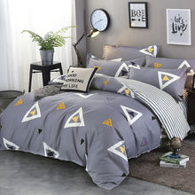Geometric 4pcs Girl Boy Kid Bed Cover Set Duvet Cover Adult Child Bed Sheets And Pillowcases Comforter Bedding Set 2TJ-61006(China)