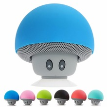 Mini Speaker Cute Mushroom Wireless Bluetooth Silicone Suction Cup Portable MP3 Music Player for iPad iPhone 4S 5S 6S Laptop(China)