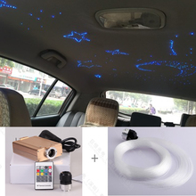 Free shipping DIY moon star  DC 12V car roof top ceiling star light with fiber optic kits RF remote control
