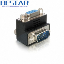 90 Degree Right Angled VGA SVGA Male To Female Adapter adaptor connector converter(China)