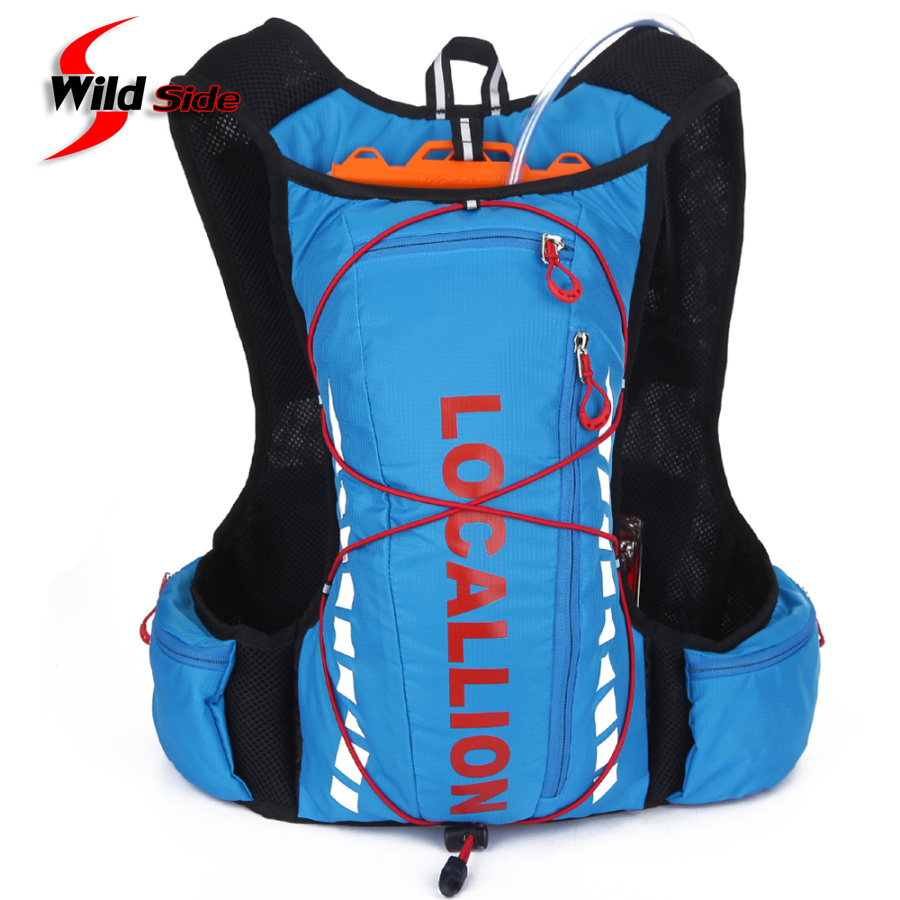 Hot 10L Professional Cycling Backpack Bike Bicycle Packsack Running Breathable Fishing Vest Bag Hydration Pack Outdoor Sport Bag<br>