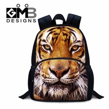 Dispalang tiger head print school bags for primary students wildanimal leopard mini felt backpacks for kids little boys bagpack