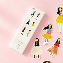 4 pack/lot New Fashion Young Girls 3D Bookmark Paper Cartoon Bookmark Promotional Escolar Papelaria Gift Film Bookmark