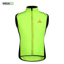 WOSAWE Tour de France Windproof Cycling Jerseys Sleevless Cycle Clothing Windcoat Breathable MTB Bike Jacket Vest Gilet