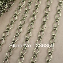 RYQY 5mm antique bronze twist curb link chain, cuban link chain(China)
