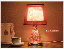 Luxury Red Crystal Table Lamp 110V 220V Luxury Bedroom Bedside Lamp K9 Crystal Decoration Lamp Abajur Led Free Shipping(China)