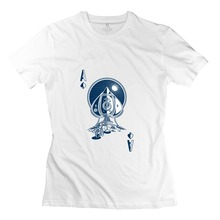 New Arrival Round Neck Ace Of Spaces high tech Girl t-shirt Cute Girl T Shirts