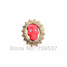 New Design Handmade Resin Red Man Unusual Ring
