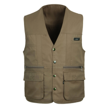 2016 New Outdoors Mens Vest XXXL Both Sides Wear Photography Vest Multi-Pocket Director Vest Man Vest 3 Colors