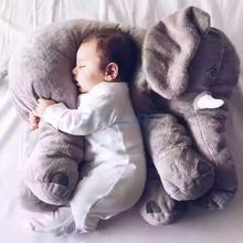 New arrival Large Soft Plush Elephant Kids Sleeping Back Cushion Pillow Cover Child Animal  Birthday Gift Toy
