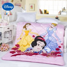 Princess Comforters High Quality Disney Character Cotton Cover Girls Bedroom Decor Single Twin Full Queen Size Quilt Pink Color(China)