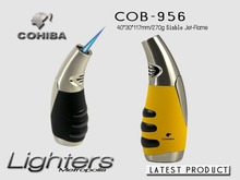 Original COHIBA jet 1300 degree heat torch turbo butane gas lighter outdoor.Inflatable cigar cigarette Function Lock fixed flame(China)