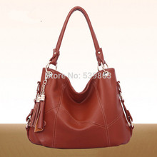 2017 Sale New Fringed Bag High Quality Imitation Leather Stitching Women Soft Handbag The Retro Style Large Capacity Shoulder