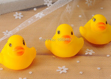 vocal yellow rubber ducklings children playing swimming infant baby bath ring pinched duck bath toy childhood educational toys