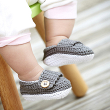 Newborn Baby Girl Boy Shoes First Walkers Ganchillo Zapatos Fabric Crochet Baby Booties Shoes Polo Infant Boy Girls 503144(China)