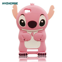 Phone Cases For ZTE A610 Case Cartoon Stitch Protective Back Cover Soft Silicon Rubber Mobile Phone Cases For ZTE Blade Q LUX 4G(China)