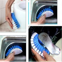 Home Washing Brush Durable Plastic Dendable Corner Bathtub Faucet Soft Brush Laundry Brush Cleaner Kitchen Cleaning Tool(China)