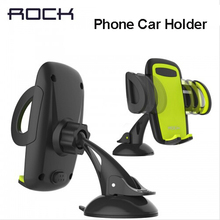 Rock Mobile Car Phone Holder Stand Adjustable Support 6.0 inch 360 Rotate For Iphone 6 Plus/5s Samsung galaxy note 7 S6 s7 edge(China)