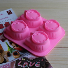 Long-term supply of exquisite cartoon hello kitty4 even one kind of expression silica gel jelly pudding cake mold