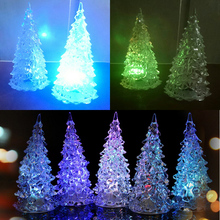 New  Battery Operated Rainbow Changing Night Light Desk Table Top Christmas Tree Decoration Gift Event Party Supply