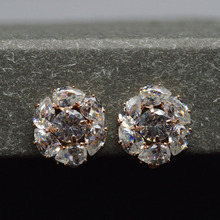 Young tulip 2 colors available Cubic Zirconia Clip Earrings for Women Clear Color Wedding Earrings Fashion Jewelry(China)