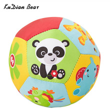 KUDIAN BEAR Baby Toys Animal Ball Soft Stuffed Toy Balls Rattles Infant Babies Body Building Ball For 0-12 Months BYC100 PT49(China)