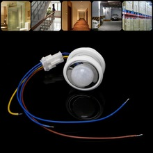 40mm LED PIR Detector Infrared Motion Sensor Switch With Time Delay Adjustable(China)