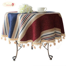 Proud Rose American Striped Circular Tablecloth Modern Thicken Table Cloth Fashion Hotel Party Tablecloth Customized(China)