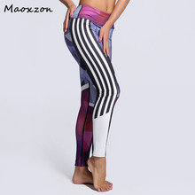 Buy Maoxzon Womens Digital Print Sexy Fitness Workout Slim Leggings Female Fashion Gymnasium Active Skinny Elastic Pants Plus Size for $14.93 in AliExpress store