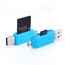 2 in 1 Micro USB OTG TF SD Card Reader Phone Extension Headers Flash Drive Adapter For Samsung Xiaomi Smartphone Table Computer(China)