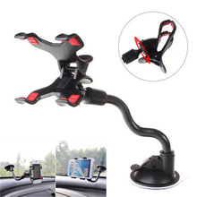 Universal 360 Degree Rotating Arm Windshield Mobile Phone Car Sucker Mount Bracket Holder Stand for IPhone Cellphone GPS MP4 PDA