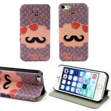 Suppion Pattern Wallet Flip Leather Hard Case Cover For iphone 5 5G 5S C Wholesale Cell phone protector(China)