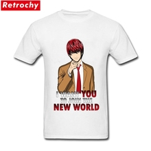 Stylish Animation Hot Topic Support Kira T-shirt Mens Short Sleeves Cotton Guy Cool Anime Character Tee Custom T shirts(China)