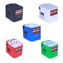 Universal International Travel Adapter AC Power Charger Plug Converter Socket Adaptor Plugs with 4 USB Hub Ports
