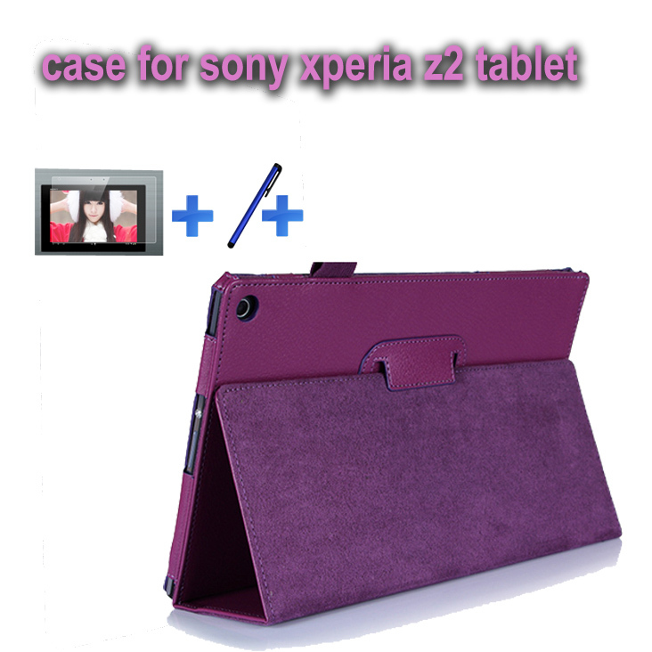 For Sony Xperia Tablet Z2 satand  case cover pouch design free shipping+screen stylus<br><br>Aliexpress