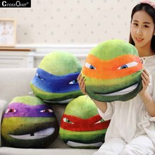 Ninja Turtle cushion decorative pillows Tortoise Plush Toy Pillow For Car Sofa Gift cushions and throws(China)