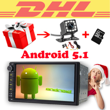 7 inch 2 din gps car radio 2din Android 5.1.1 Quad Core Head Unit 1024*600 HD Built-in GPS Navigation autoradio rear view camera