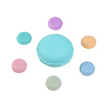 New Arrival Circle Cute Macaroon Cookie Design Candy Color Mini Storage Box Jewelry Box(China)
