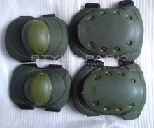 SWAT Motorcycle 2Knee Pads 2Elbow Protection Pads Surface Durable Military Green Outdoor Sport Elbow Knee Pad