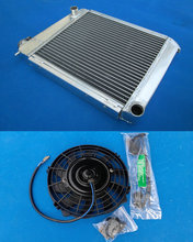 "HOT SELLING 50mm Aluminum RACING Radiator + 7"" Fan for AUSTIN ROVER MINI 1275 GT 1959-1997 Manual(China)"