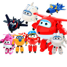 Best sale Season 3 Big 15cm ABS Super Wings Deformation Airplane Robot Transformation Action Figures Toys for Christmas Gift(China)