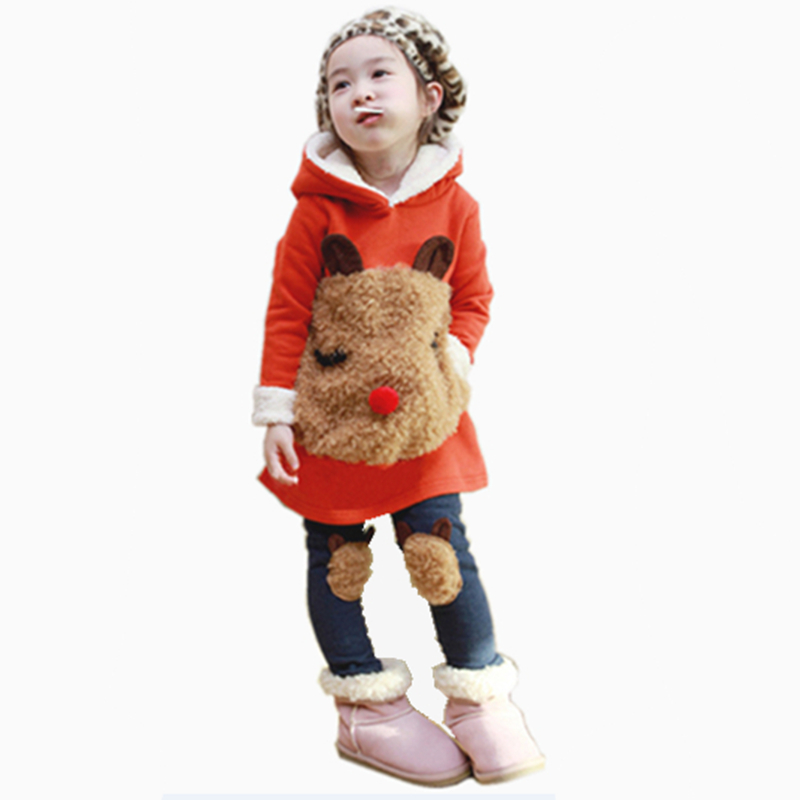 Fancy teen toddler girl autumn winter clothing set thick plush cartoon masha and bear clothing coat set with hood promotions<br><br>Aliexpress