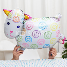2pcs Helium balloons sheep Foil balloons pet animal inflatable balloon cartoon palloncini birthday party decoration kid's toy