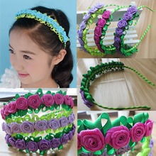 16Pcs Fashion Stylish HOt Sale Flower Garland Floral Headband Hairband flower headband Hair Accessories free shipping 84 No.(China)