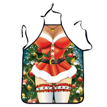 Fashion Personality Funny Novelty Red Cooking Kitchen Apron Funny BBQ Christmas Gift Funny Sexy Party Apron