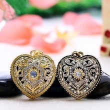 Jewelry Heart Shape Necklace USB 2.0 Flash Disk 64GB Pen Drive 32GB 16GB 8GB 4GB Mini Pendrive Memory Stick Cle USB Gift  U939