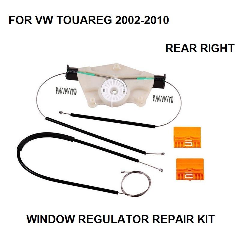 VW TOUAREG 2003-2010 FRONT ELECTRIC WINDOW REGULATOR W//O MOTOR PASSENGER SIDE