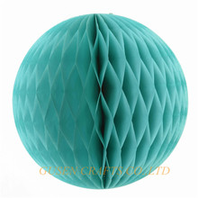 "2016 wedding decorations 5pcs/lot 6""(15cm) tissue paper blue honeycomb ball pastel bags decorations for party/baby shower(China)"